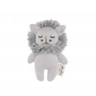 Rattle Toy Mini Lion gray
