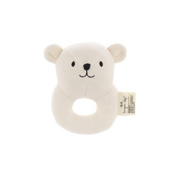 Konges Slojd Rattle Toy Mini Bear beige