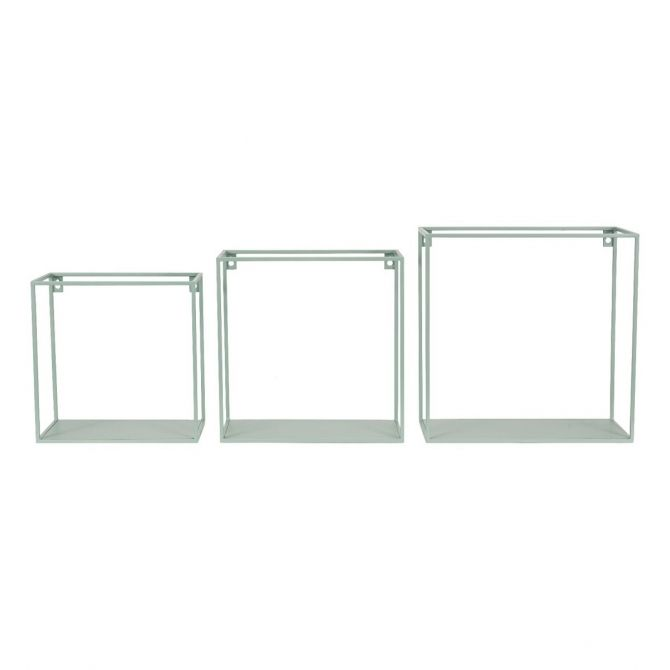 Kids Depot Set of wall shelf square green