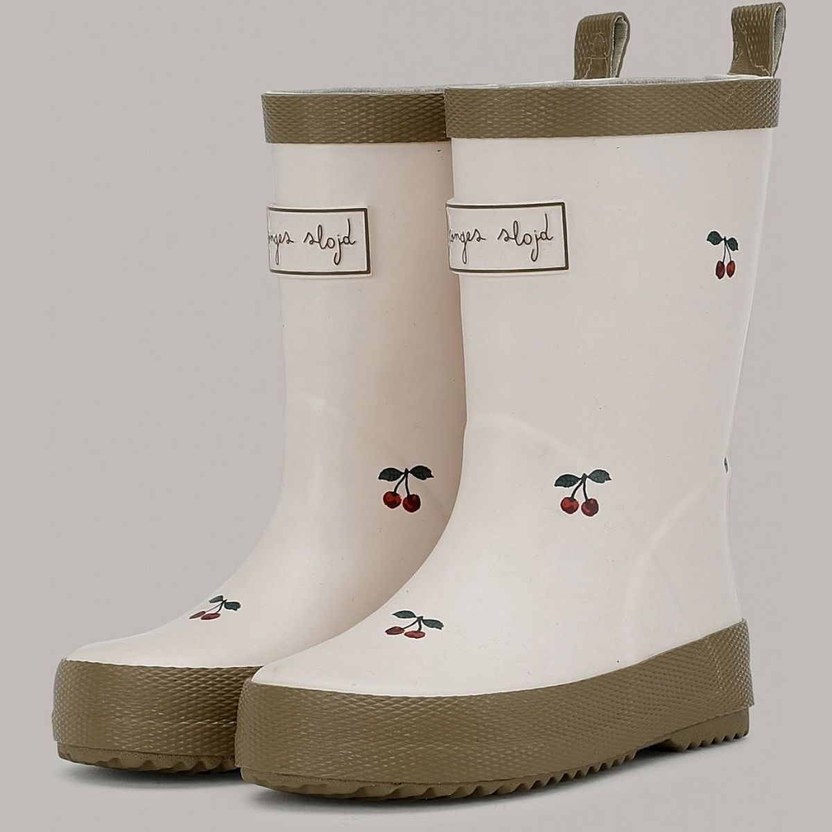 Konges Slojd Laces Rain Boots Kid beige cherries