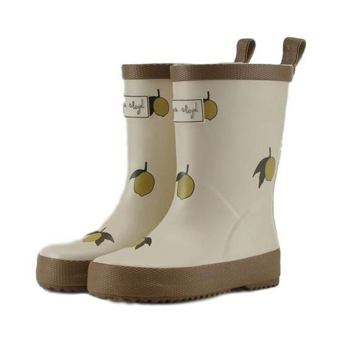 Laces Rain Boots Kid beige Lemon - Konges Slojd