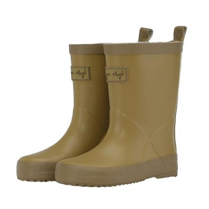 Laces Rain Boots Kid Valken Cognac brown - Konges Slojd