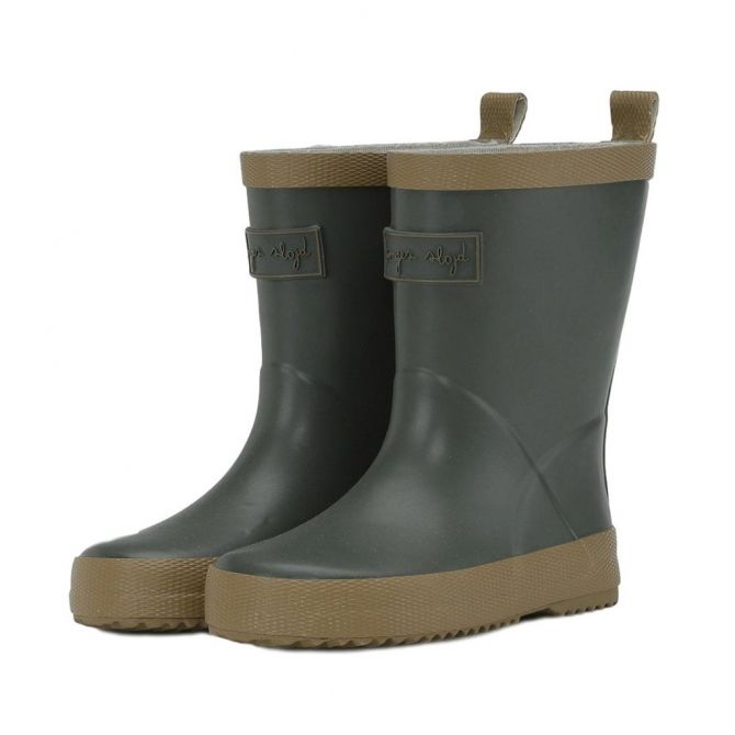 Laces Rain Boots Kid Valken Pine brown - Konges Slojd