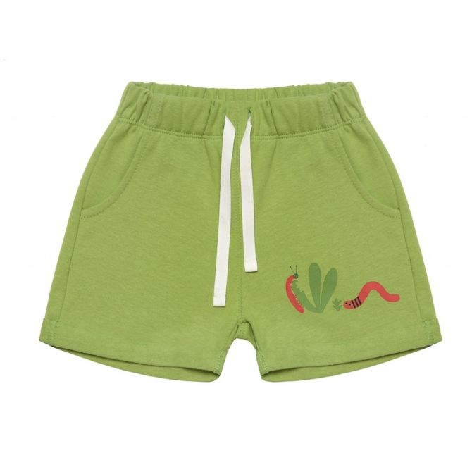 Little Worms Shorts green - Chmurrra Burrra