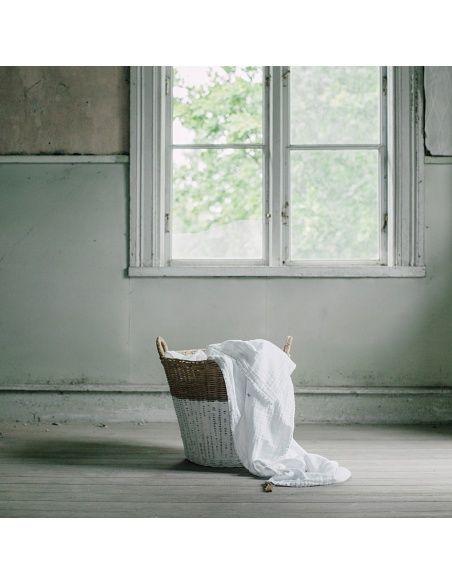 Numero 74 Koszyk rattanowy biały