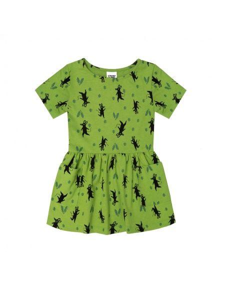 Sukienka Little Mice zielona - Chmurrra Burrra