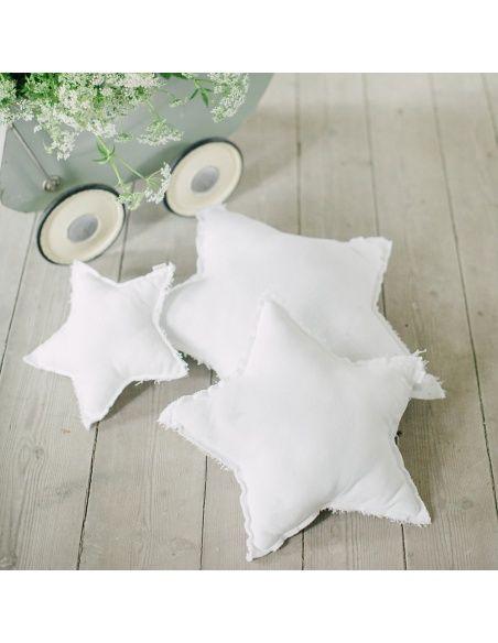 Numero 74 Poduszka gwiazda biała