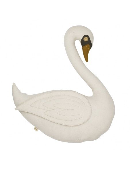 Numero 74 Swan Vicky Cushion Toy natural