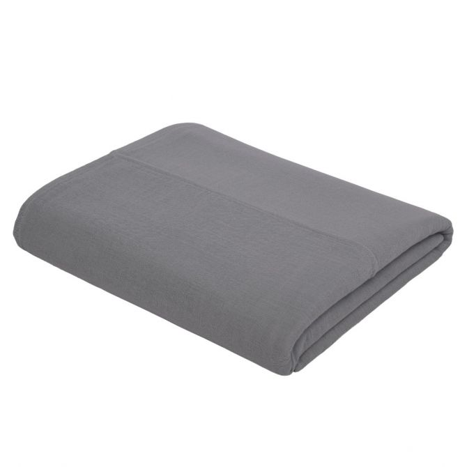 Top Flat Sheet Plain stone grey - Numero 74