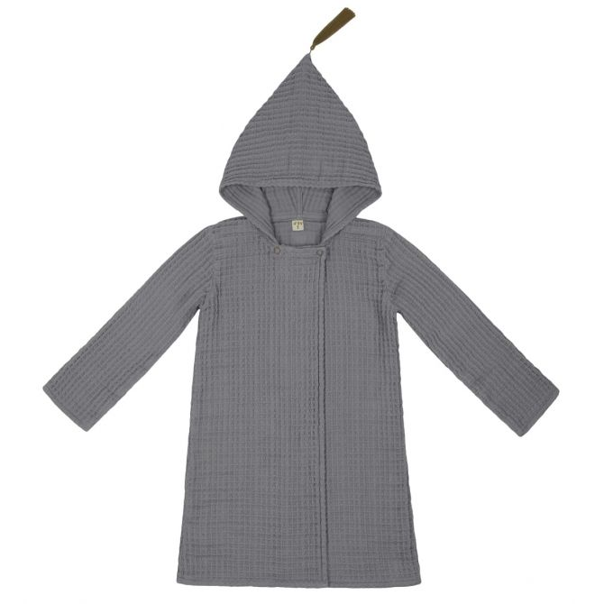 Bathrobe Kid stone grey