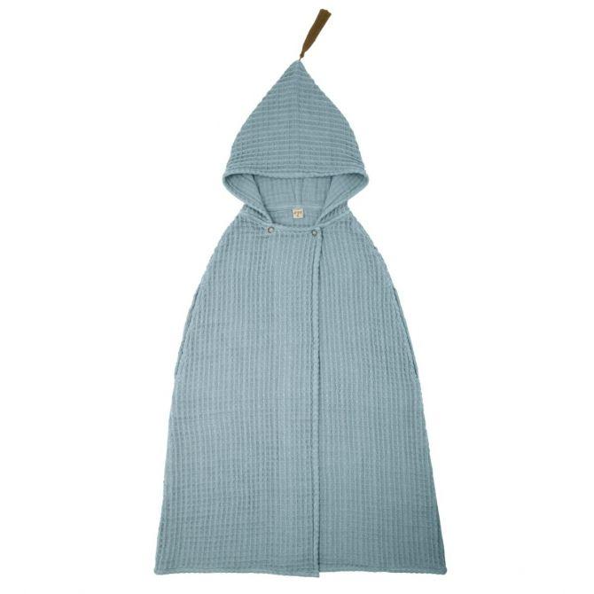 Numero 74 Szlafrok Poncho Towel szaroniebieski