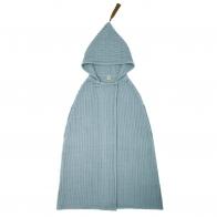 Szlafrok Poncho Towel szaroniebieski