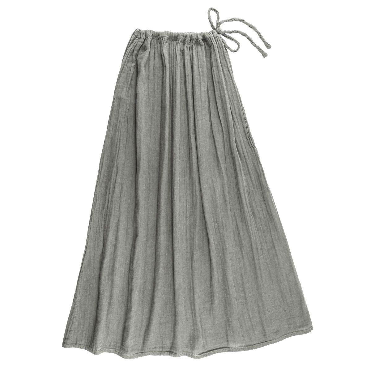 Numero 74 Spódnica dla mamy Ava długa srebrnoszara