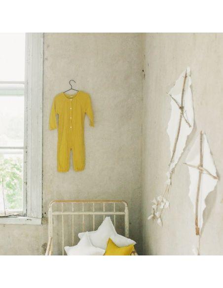 Numero 74 Pajac Niemowlęcy Leni słoneczny żółty
