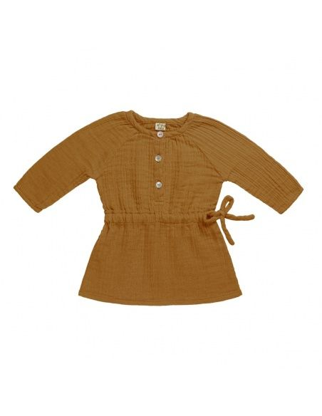 Numero 74 - Sukienka dziecięca Naia musztardowa - 2