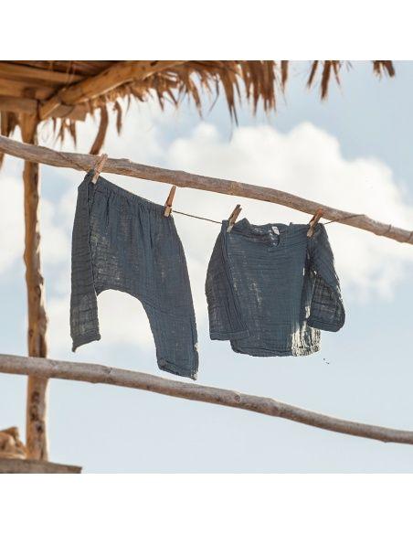 Numero 74 Komplet Zac koszulka & spodnie szaroniebieski