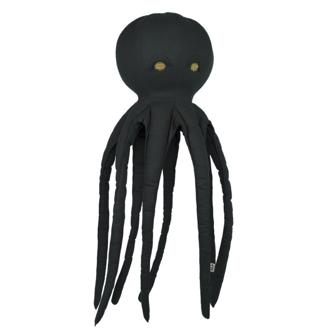 Numero 74 Freddy Octopus Cushion Toy dark grey