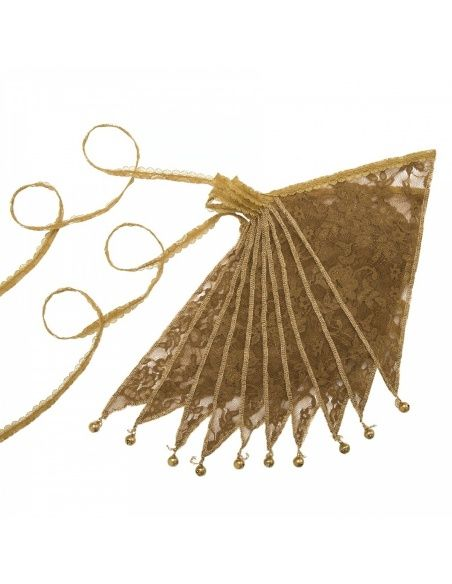 Numero 74 Bunting Garland Lace Flower gold