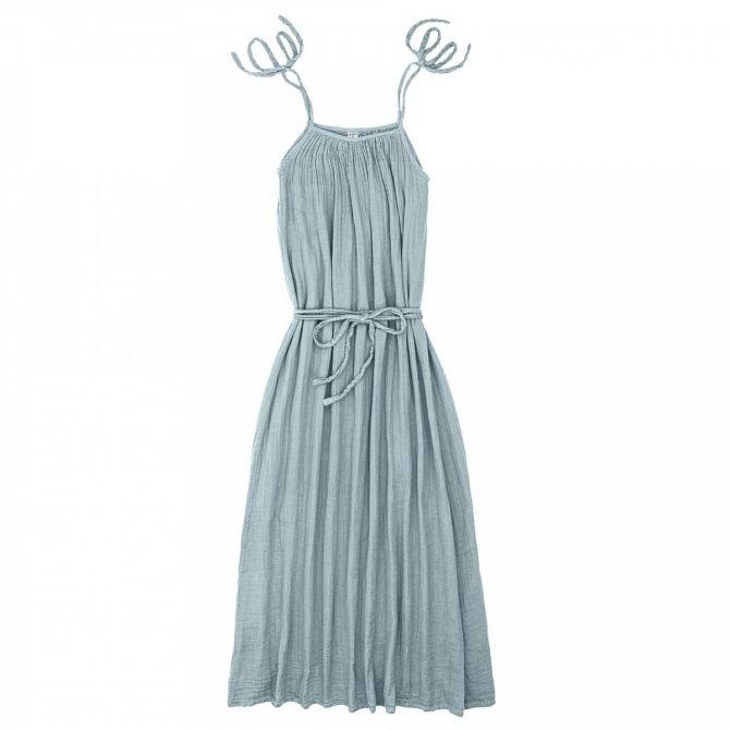 Numero 74 Sukienka dla mamy Mia długa zgaszony błękit