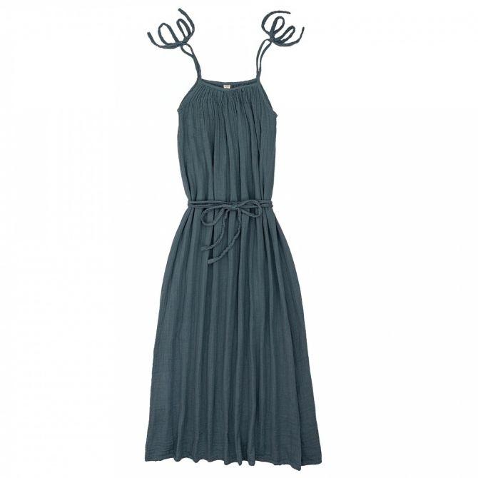 Numero 74 Sukienka dla mamy Mia długa szaroniebieska