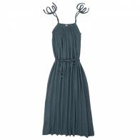 Sukienka dla mamy Mia długa szaroniebieska