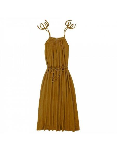 Numero 74 Sukienka dla mamy Mia długa musztardowa