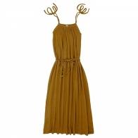 Sukienka dla mamy Mia długa musztardowa