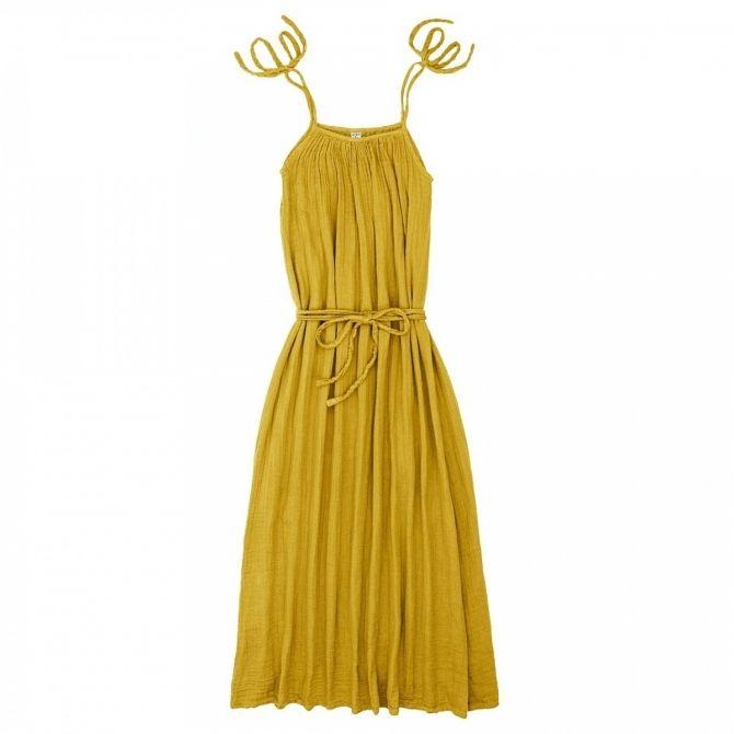 Numero 74 Sukienka dla mamy Mia długa słoneczna żółć