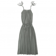 Dress for mum Mia long silver grey