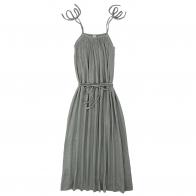 Sukienka dla mamy Mia długa srebrnoszara