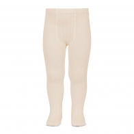 Wide Ribbed Cotton Tights linen