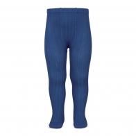 Rajstopy Wide Ribbed indigo blue