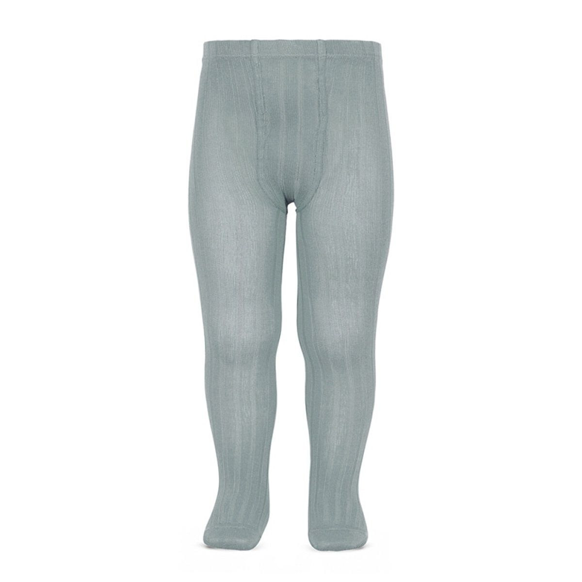 Condor Wide Ribbed Cotton Tights dry green