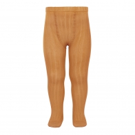 Wide Ribbed Cotton Tights toffee