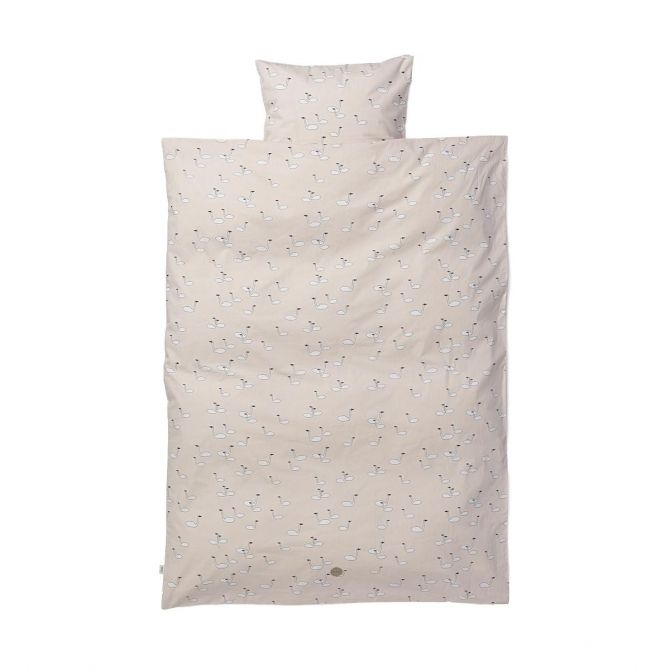 Swan Bedding Rose Junior pink - Ferm LIVING