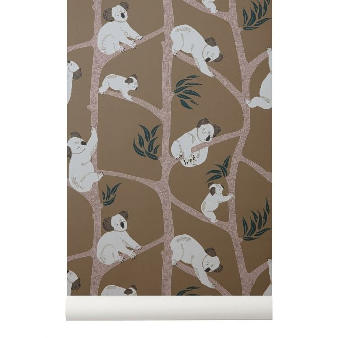 Koala Wallpaper mustard - Ferm LIVING