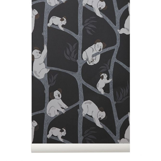 Ferm LIVING Koala Wallpaper green