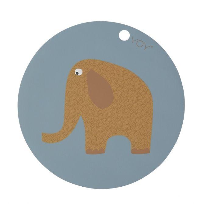 Podkładka pod talerz Elephant niebieska - OYOY