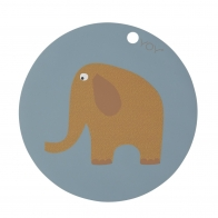 Elephant Placemat OYOY blue