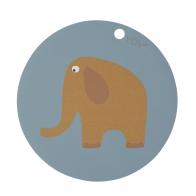 Podkładka pod talerz Elephant niebieska