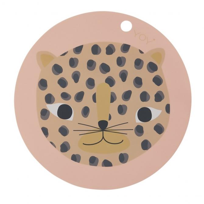 Podkładka pod talerz Snow Leopard różowa - OYOY
