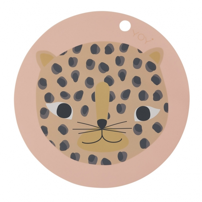 Snow Leopard Placemat OYOY dusty pink - OYOY