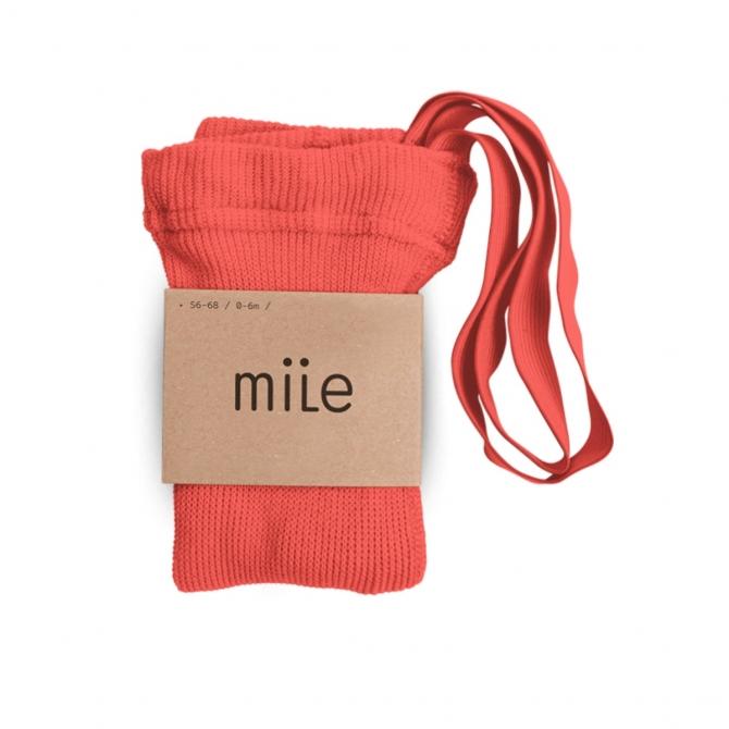 Rajstopy z szelkami truskawkowe - Mile
