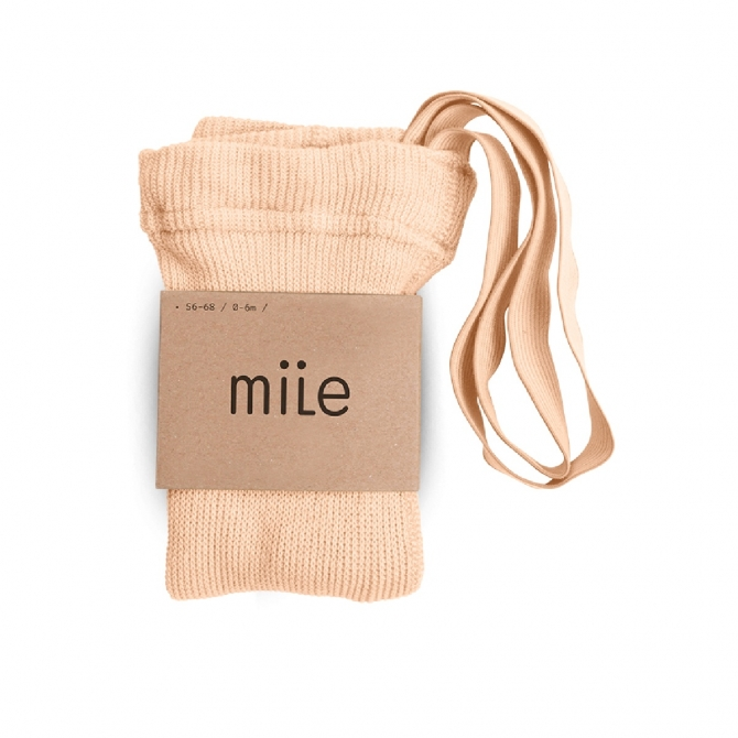 Cotton tights with braces peach - Mile