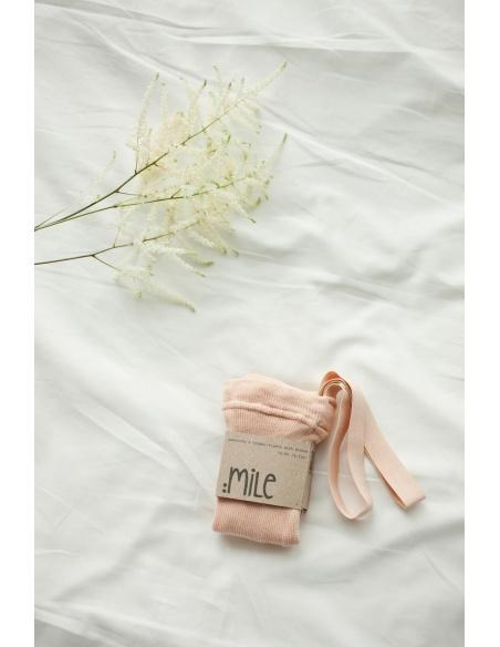 Mile Rajstopy z szelkami brzoskwiniowe