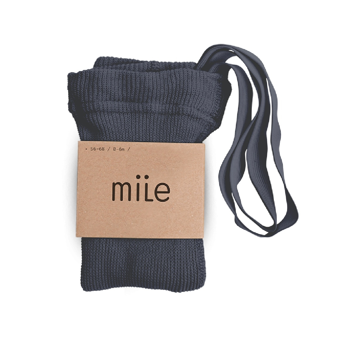 Mile Cotton tights with braces steel blue