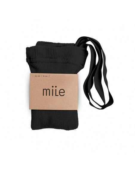 Mile Cotton tights with braces black