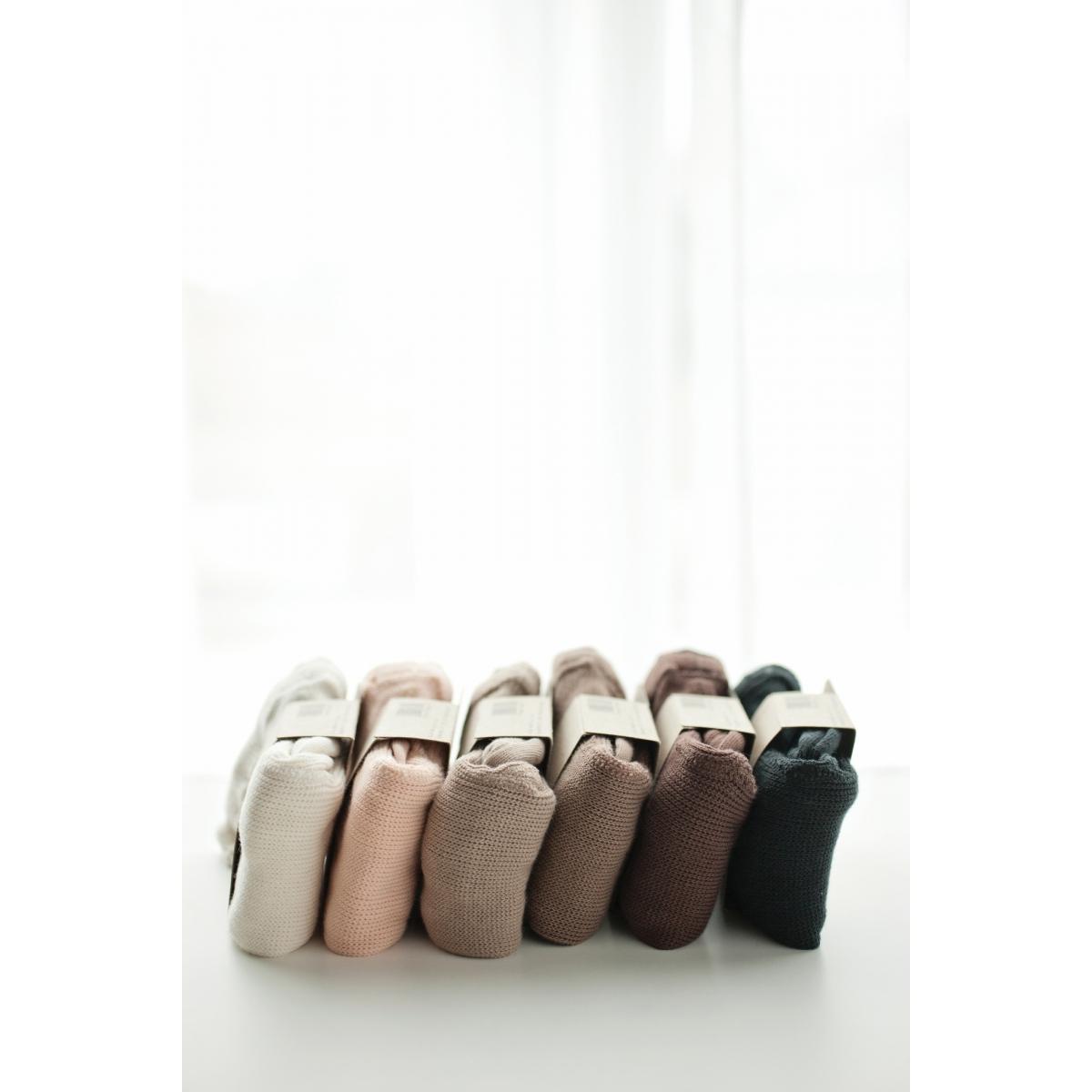 Mile Cotton tights with braces ecru