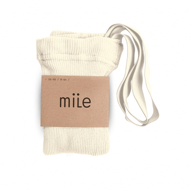 Mile Cotton tights with braces ecru