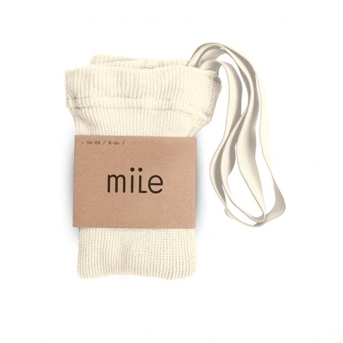 Rajstopy z szelkami ecru - Mile